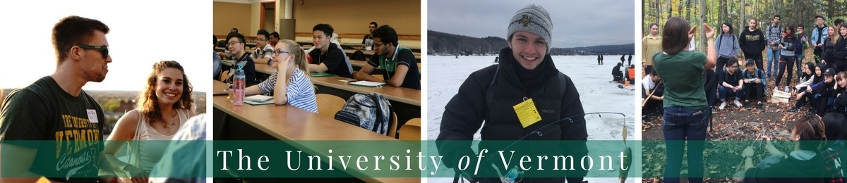 Photo montage of UVM