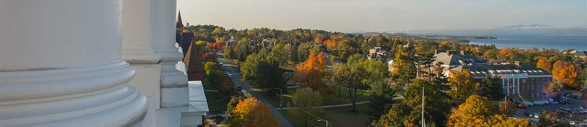 Campus view from Ira Allen