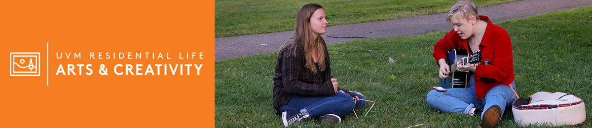 Arts and Creativity students relax on lawn