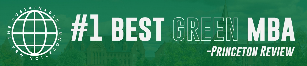 #1 Best Green MBA, Princeton Review