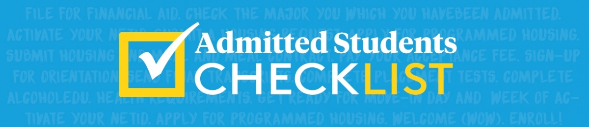 Admitted Student Checklist graphic