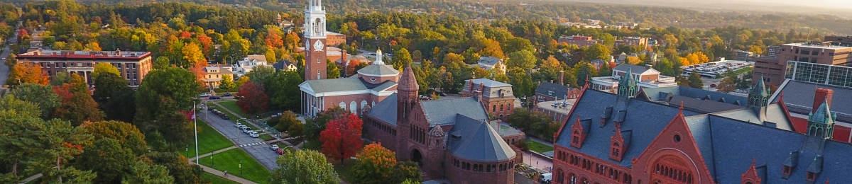 Fall Campus Drone Shot