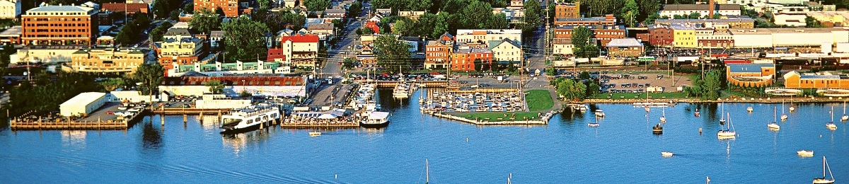 Burlington, Vermont Waterfront aerial