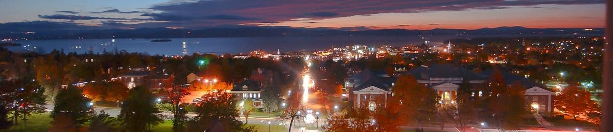 campus in the evening