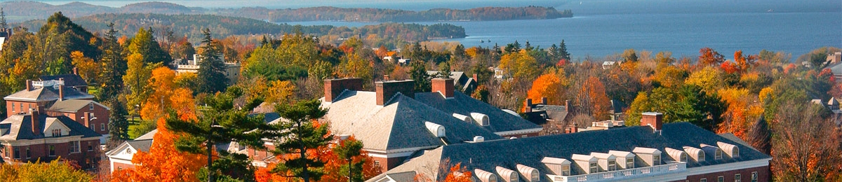 Campus over looking Lake Champlain