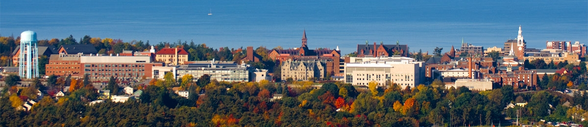Arial view of the UVM campus