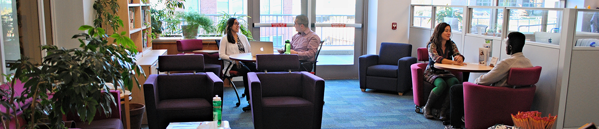 The atmosphere is welcoming and relaxed at the UVM Career Center