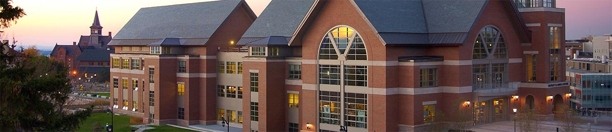 wide view of Davis Center
