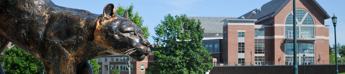 Davis Center & Catamount statue