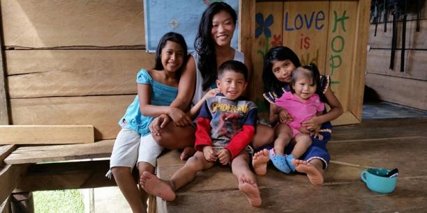 Sydney Groth volunteering in Panama
