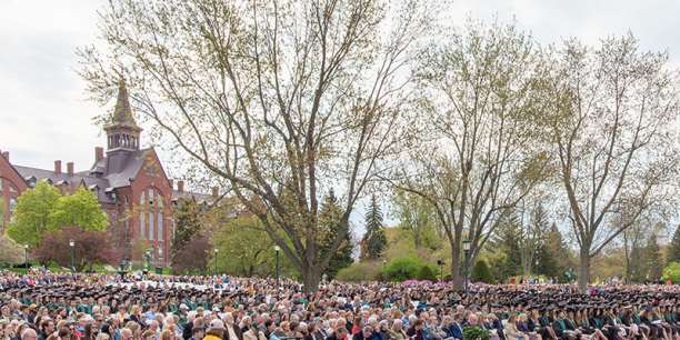 Crowd at University of Vermont Commencement