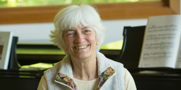 Sylvia Parker, UVM's senior lecturer of music theory and piano