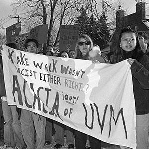 Archival photo of UVM student activists