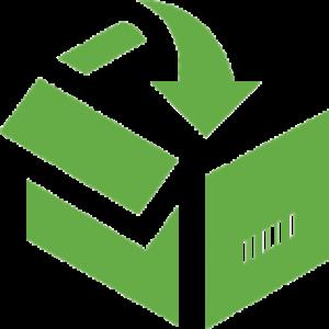 icon of shipping box