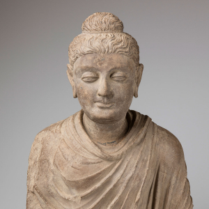 Photo of a bust of Buddha