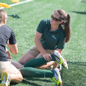 Athletic training students with clinical preceptor