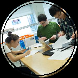 UVM students working on internship projects