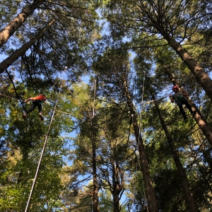 Campers Climbing