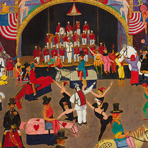 "Detail of Wood Gaylor's ""Arts Ball, 1918"""