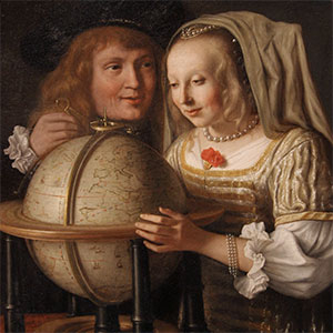 "Image from Lambert Doomer's ""Couple with a Globe,"" 1684"