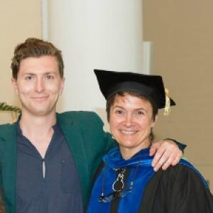Professor Mazzoni with student