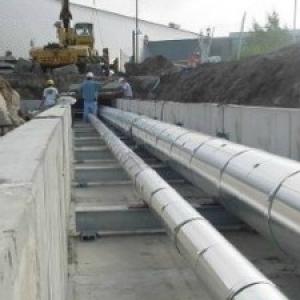 underground steam piping