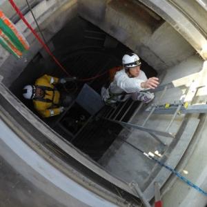 worker in tunnel