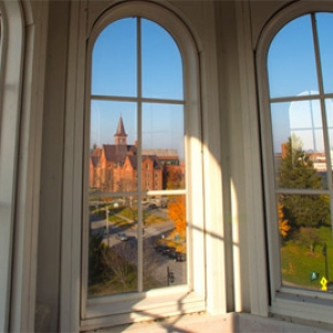 View from Ira Allen Chapel