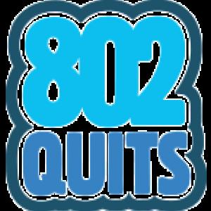 Blue letters, 802 quits.