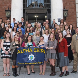 Green Mountain Chapter of Alpha Zeta on the front steps of Waterman Building
