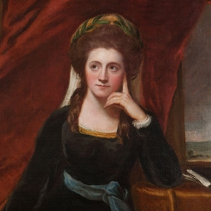 Detail of a painting of Anna Seward