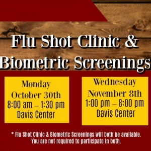 Biometric Screening & Flu Shot Clinic (Save The Date)