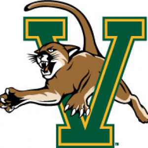 Icon with UVM Athletics' catamount jumping through a V