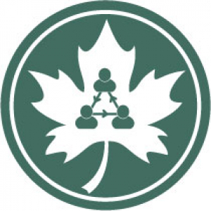 icon image of a maple leaf connecting people to represent caps referrals