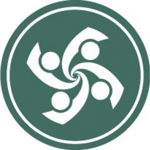 icon symbolizing group therapy with four people making a spiral