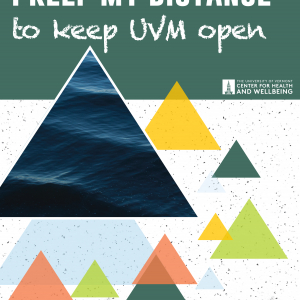I keep my distance to keep UVM open with colorful triangles that look like mountains
