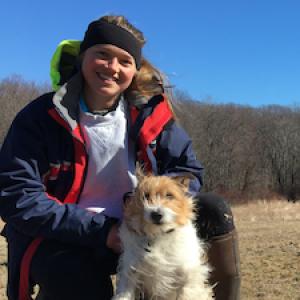 Charlotte Uden with her dog