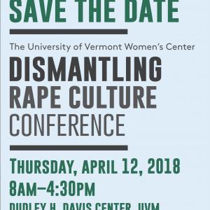 Dismantling Rape Culture Conference poster
