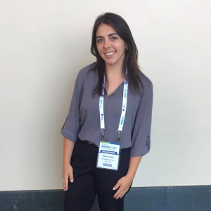 Michelle at a conference