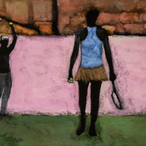 painting titled Arrest, 2019 by Reggie Burrows Hodges