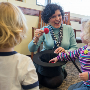 Dr. Patricia Prelock working with children