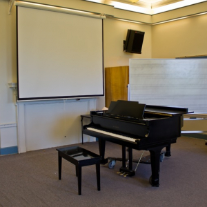 Southwick classroom with grand piano