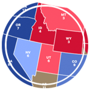 a section of the electoral map of the united states