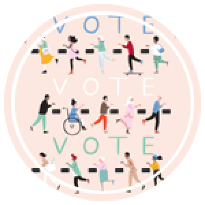illustration of various ethnicities and abilities voting