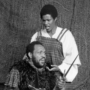 Macbeth (Ray Aranha) and Lady MacBeth (Jennifer Cover)