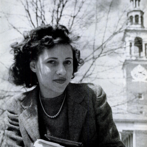 Portrait of Crystal Malone in front of UVM Ira Allen Chapel