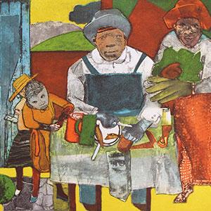 """Romare Bearden's """"The Family,"""" 1975"""