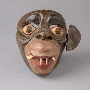 Image of a mask of a monkey