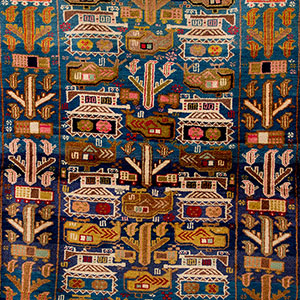 Detail of an Afghanistan War Rug