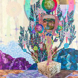 """Saya Woolfalk, """"Encyclopedia of Cloud Divination (Plate 3),"""" 2018"""